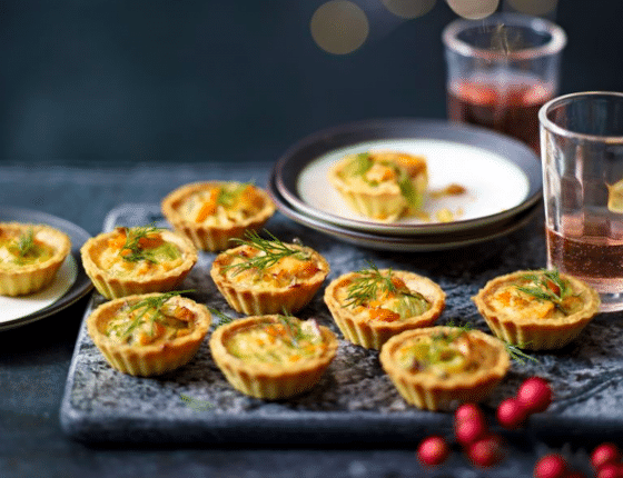 Salmon Leed and Dill Tartlets